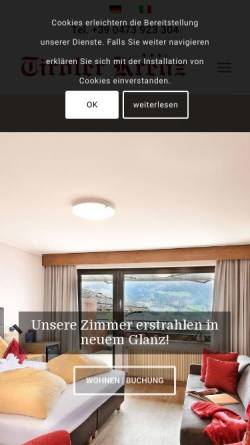 Vorschau der mobilen Webseite www.tirolerkreuz.com, Gasthof Hotel Tiroler Kreuz