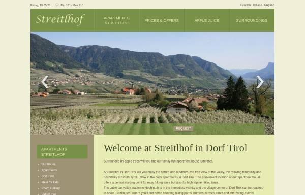 Vorschau von www.streitlhof.com, Garni Streitlhof