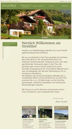 Vorschau der mobilen Webseite www.streitlhof.com, Garni Streitlhof