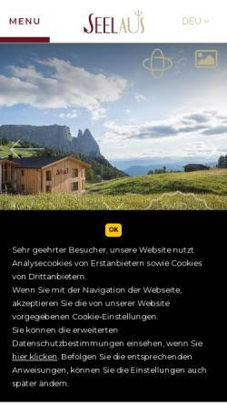 Vorschau der mobilen Webseite www.hotelseelaus.it, Hotel Seel Aus