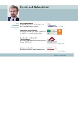 Vorschau der mobilen Webseite www.berger-mathias.de, Berger, Prof. Dr. Mathias