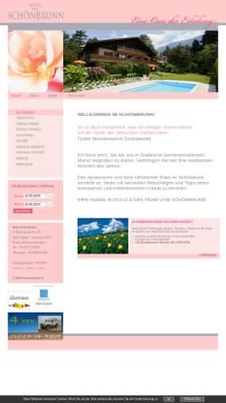 Vorschau der mobilen Webseite www.schoenbrunn.it, Pension Schönbrunn