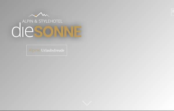 Vorschau von www.hotel-sonne.it, Hotel Sonne
