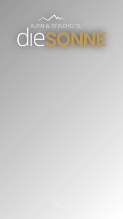 Vorschau der mobilen Webseite www.hotel-sonne.it, Hotel Sonne