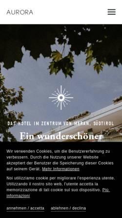 Vorschau der mobilen Webseite www.hotel-aurora-meran.com, Aurora