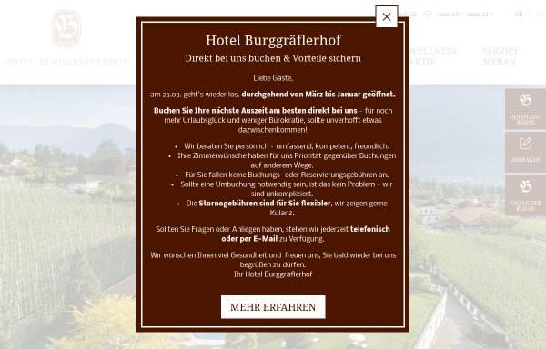 Vorschau von www.hotel-burggraeflerhof.com, Hotel Burggräfflerhof