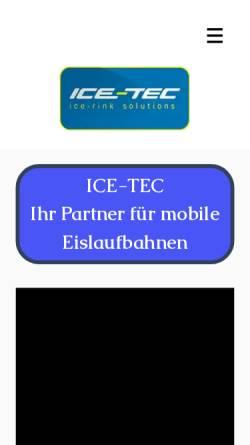 Vorschau der mobilen Webseite www.ice-tec.eu, Ice-Tec GmbH
