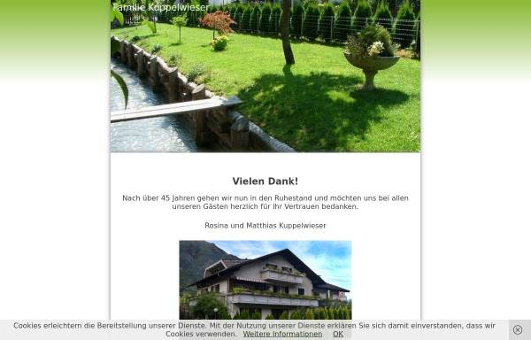 Vorschau von www.familie-kuppelwieser.it, Pension Kuppelwieser