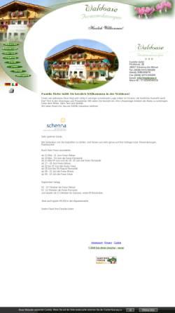 Vorschau der mobilen Webseite www.waldoase.it, Ferienwohnungen Waldoase