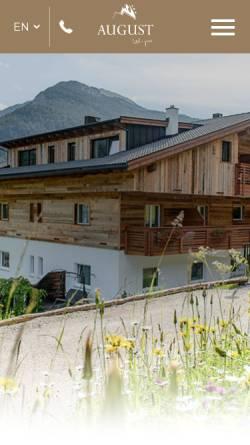Vorschau der mobilen Webseite www.garniaugust.com, Garni-Hotel August