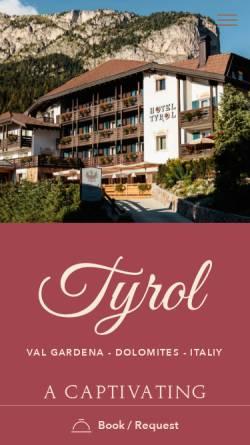 Vorschau der mobilen Webseite www.tyrolhotel.it, Hotel Tyrol