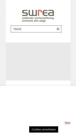 Vorschau der mobilen Webseite www.swr.bz.it, Südtiroler Wirtschaftsring - SWR