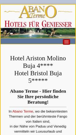 Vorschau der mobilen Webseite www.abanoterme.de, Abanoterme.de