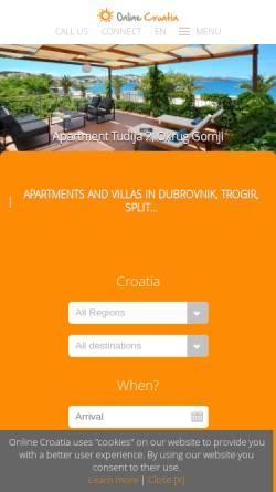 Vorschau der mobilen Webseite www.online-croatia.com, Online-Croatia.com