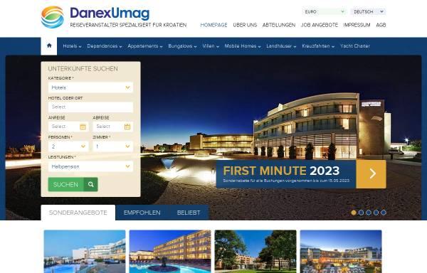 Vorschau von www.kroatien-danexumag.de, Danex Umag