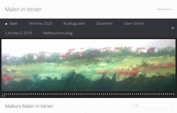 Vorschau von www.malen-in-istrien.de, Malen in Istrien