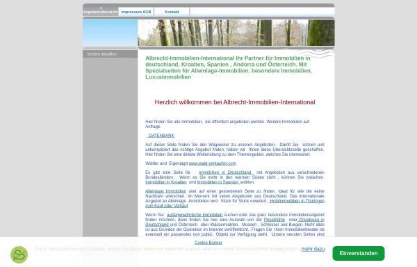 Vorschau von www.albrecht-immobilien-international.com, Albrecht-Immobilien-International, Gesine Albrecht