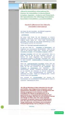 Vorschau der mobilen Webseite www.albrecht-immobilien-international.com, Albrecht-Immobilien-International, Gesine Albrecht