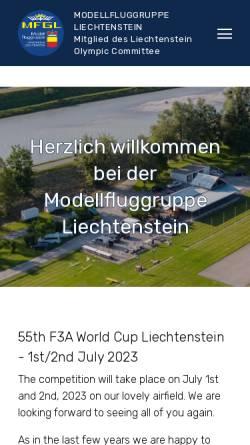 Vorschau der mobilen Webseite www.mfgl.li, MFGL Modellfluggruppe Liechtenstein