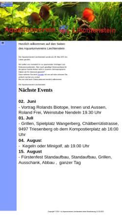 Vorschau der mobilen Webseite www.aquariumverein.li, Aquariumverein Liechtenstein