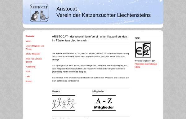Vorschau von www.aristocat.li, Aristocat - Verein der Katzenzüchter Liechtensteins