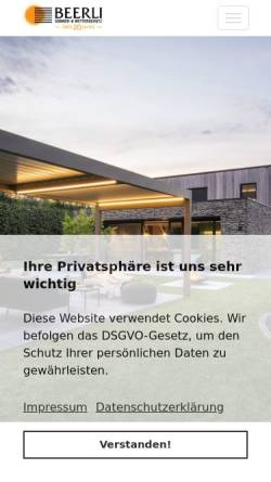 Vorschau der mobilen Webseite www.beerli.li, Beerli Storen GmbH