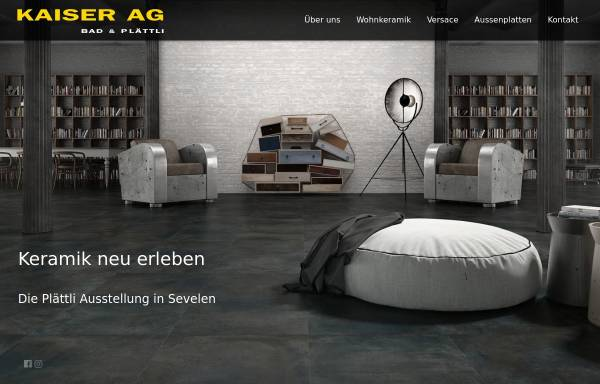 Vorschau von www.kaiser-plaettli.li, Kaiser AG Bad und Plättli