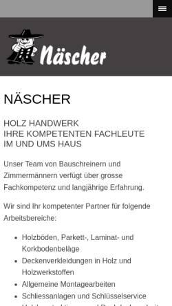 Vorschau der mobilen Webseite www.naescher.li, Näscher Allroundservice & Innenausbau Est.