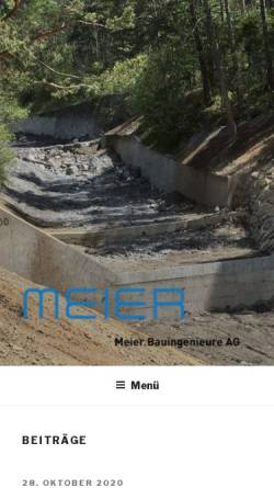Vorschau der mobilen Webseite www.ing-meier.li, Meier Bauingenieure AG