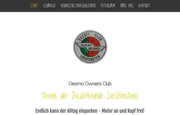 Vorschau von www.ducaticlub.li, Ducati Club Liechtenstein
