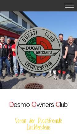 Vorschau der mobilen Webseite www.ducaticlub.li, Ducati Club Liechtenstein