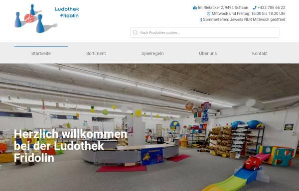 Vorschau von www.ludothek.li, Ludothek Fridolin