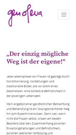 Vorschau der mobilen Webseite www.genofeva.li, Genofeva - Astrid Walser