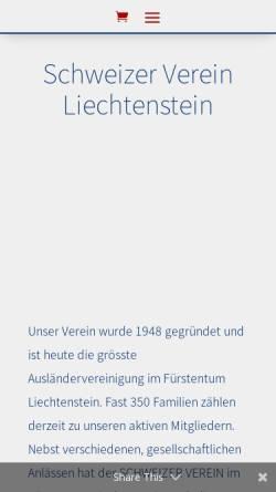 Vorschau der mobilen Webseite www.schweizer-verein.li, Der Schweizer Verein in Liechtenstein