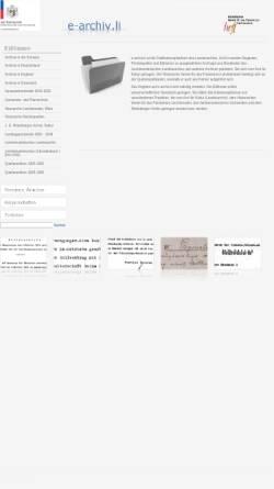 Vorschau der mobilen Webseite www.e-archiv.li, E-archiv.li - Liechtensteinisches Landesarchiv