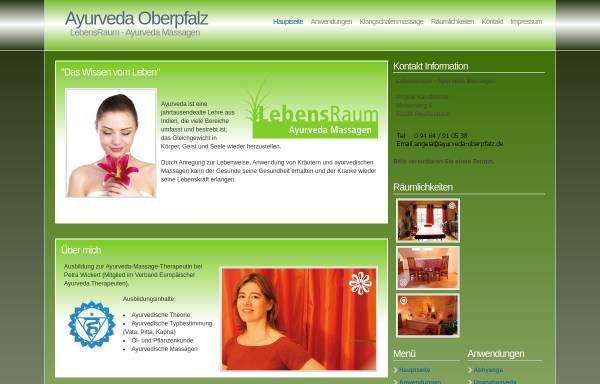 Vorschau von www.ayurveda-oberpfalz.de, Lebensraum - Ayurveda-Massagen
