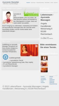 Vorschau der mobilen Webseite www.ayurveda-oberpfalz.de, Lebensraum - Ayurveda-Massagen