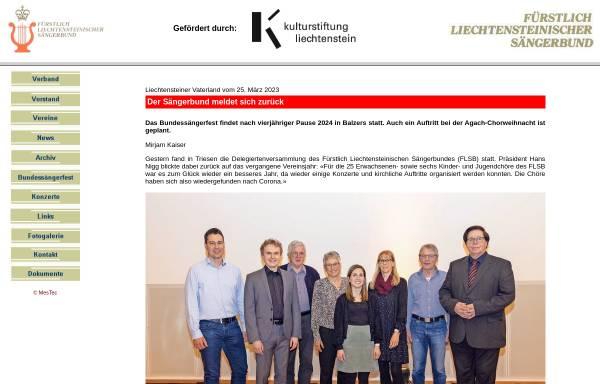 Vorschau von www.flsb.li, Fürstlich Liechtensteinischer Sängerbund