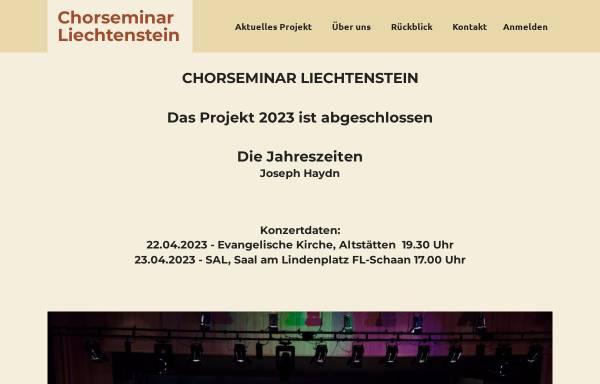 Vorschau von www.chorseminar.li, Chorseminar Liechtenstein