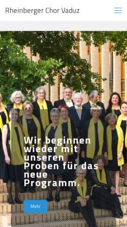 Vorschau der mobilen Webseite www.rheinbergerchor.li, Josef Gabriel Rheinberger Chor
