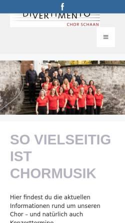 Vorschau der mobilen Webseite www.divertimento.li, Chor Divertimento