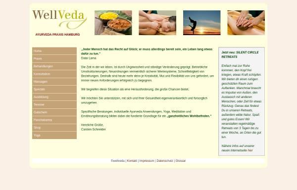 Vorschau von www.wellveda.de, Praxis für Ayurveda-Therapie und Massage
