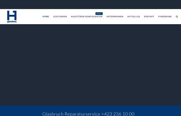 Vorschau von www.glasbau.li, Hilti Glasbau AG