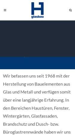 Vorschau der mobilen Webseite www.glasbau.li, Hilti Glasbau AG