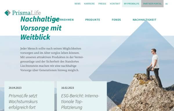 Vorschau von www.prismalife.com, PrismaLife AG
