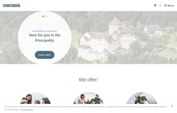 Vorschau von www.concordia.li, Concordia Schweizerische Kranken- und Unfallversicherung AG - Landesvertretung Liechtenstein