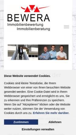 Vorschau der mobilen Webseite www.bewera.com, Bewera AG
