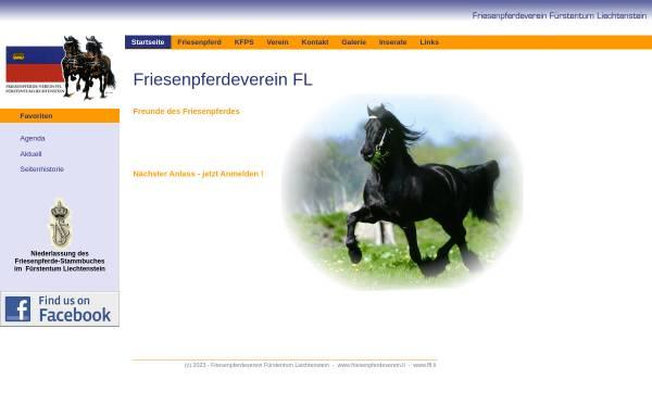 Vorschau von www.friesenpferdeverein.li, Friesenpferdeverein Fürstentum Liechtenstein