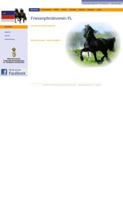 Vorschau der mobilen Webseite www.friesenpferdeverein.li, Friesenpferdeverein Fürstentum Liechtenstein