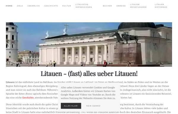 Vorschau von www.alles-ueber-litauen.de, Alles über Litauen
